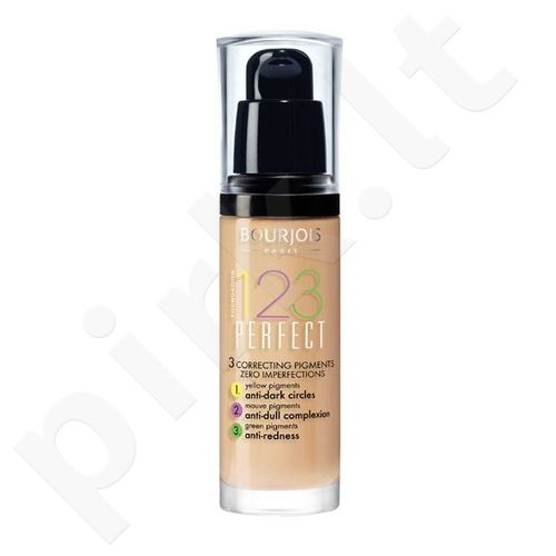 BOURJOIS Paris 123 Perfect Foundation 16 Hour, kosmetika moterims, 30ml, (52 Vanilla)