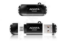 Atmintukas Adata Durable UD320 16GB USB 2.0, USB + micro USB, Juodas