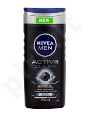 Nivea Men Active Clean dušo želė, kosmetika vyrams, 250ml