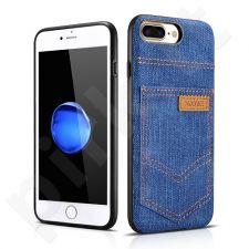 Jeans pocket PU back cover case, dark blue (iPhone 7 Plus/ 8 Plus)