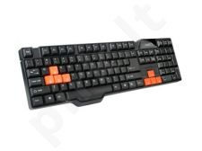 Natec Klaviatūra PIRANHA 2 GAMING BLACK-ORANGE USB