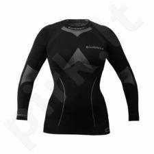 Marškinėliai ilgomis rankovėmis termoaktyvūs THERMO Wisser W juoda