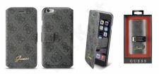 Apple iPhone 6/6S atverčiamas dėklas Guess juodas/pilkas