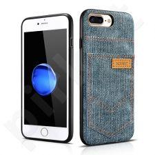 Jeans pocket PU back cover case, light blue (iPhone 7 Plus/ 8 Plus)