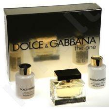 Dolce & Gabbana (EDP 75 ml + 100 ml kūno losjonas + 100 ml dušo želė) The One, rinkinys moterims