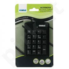 Skaičių klaviatūra 4World  USB Mini Įtraukiamas laidas