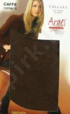Vienspalvės (šiltos) medvilninės pėdkelnės su elastanu (tamsiai ruda)