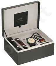 Laikrodis FOSSIL  GRANT+ 2 odinės apyrankės + spalvoti filtrai FS5250SET