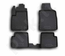 Guminiai kilimėliai 3D FIAT 500 2007->, 4 pcs. /L18001