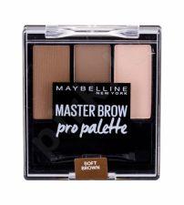 Maybelline Master Brow, Pro Palette, dažų paletė antakiams moterims, 6g, (Soft Brown)