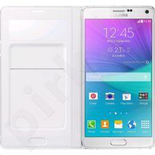 Samsung Galaxy Note4 S view atverčiamas dėklas piniginė baltas