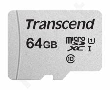 Atminties kortelė Transcend microSDXC USD300S 64GB CL10 UHS-I U1 Up to 95MB/S