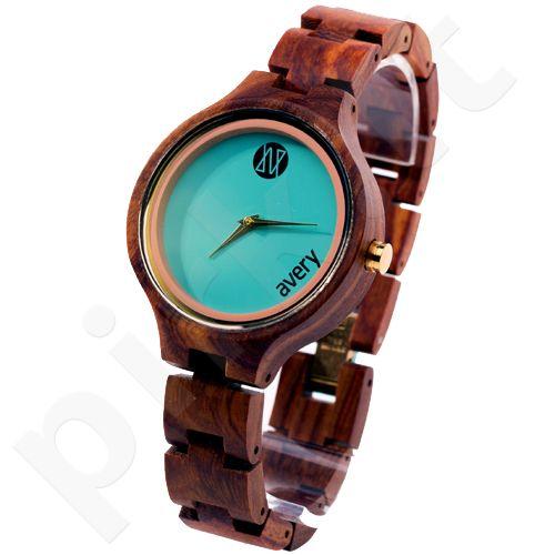 Avery Iono:Sphere AVIS310013 moteriškas laikrodis iš medžio