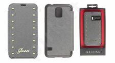 Samsung Galaxy S5 atverčiamas dėklas Guess pilkas