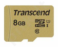 Atminties kortelė Transcend microSDHC USD500S 8GB CL10 UHS-I U1 Up to 95MB/S