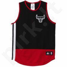 Marškinėliai krepšiniui Adidas Chicago Bulls Y Summer Run Non Reversible Junior AH5073