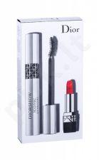 Christian Dior Diorshow Iconic Overcurl, rinkinys blakstienų tušas moterims, (blakstienų tušas 10 ml + lūpdažis Mini Rouge 999 1,5 g), (090 Over Black)