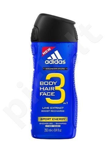 Adidas 3in1 Sport Energy, dušo želė vyrams, 400ml