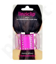 Linziclip Midi Hair Clip, kosmetika moterims, 1vnt, (Pink Crystal)