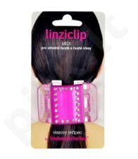 Linziclip Midi Hair Clip, kosmetika moterims, 1vnt, (Pink Crystal)