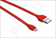 Flat Micro-USB Cable 1m - red