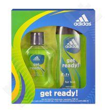 Adidas Get Ready! rinkinys vyrams, (EDT 100ml + 250ml dušo želė)