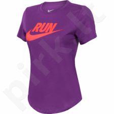 Marškinėliai bėgimui  Nike Swoosh BRAND RED TEE W 806895-556