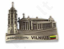 "Metalinis šaldytuvo magnetukas ""Vilnius - arkikatedra bazilika"""
