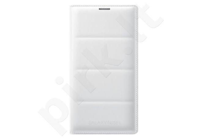 Samsung Galaxy Note 4 atverčiamas dėklas piniginė baltas