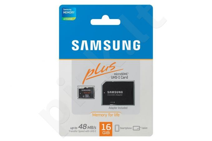 Samsung micro SDHC 16GB Class 10 Plus (transfer up to 48MB/s)