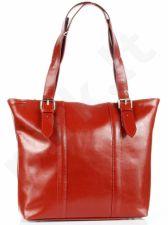 DAN-A T251 raudona rankinė iš natūralios odos elegantiška