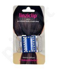 Linziclip Midi Hair Clip, kosmetika moterims, 1vnt, (Blue Crystal)