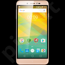 "Prestigio GRACE Z5  5.26"" HD IPS 2.5D, Dual SIM, Android 6.0, Quad-Core 1,3GHz, 720*1280, 8 GB eMMC, 1 GB RAM, 8.0 Selfie Mode + 13.0Mpx with triple flash (Samsung sensors), 2600mAh, Gold"