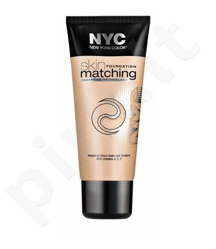 NYC New York Color Skin Matching Foundation Makeup, kosmetika moterims, 30ml, (691 Honey Light)