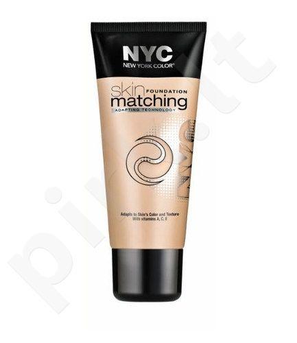 NYC New York Color Skin Matching Foundation Makeup, kosmetika moterims, 30ml, (691 Honey Light)