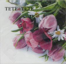 Servetėlės Tat Pink Bouquet 94995