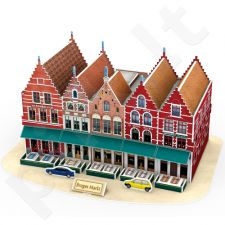 3D dėlionė: Briugės turgus