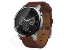 Laikrodis Motorola Moto 360 (antra gen) Odinė apyrankė ruda