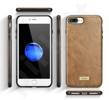 Fashionable leather back cover case, brown (iPhone 7 Plus/ 8 Plus)