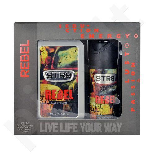 STR8 Rebel rinkinys vyrams, (EDT 100ml + 150ml dezodorantas)