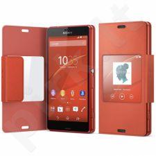 Sony Style dėklas Xperia Z3 Compact SCR26 oranžinis