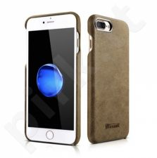 Leather back cover case, khaki (iPhone 7 Plus/ 8 Plus)