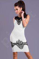 Emamoda suknelė -balta 8102-3 S dydis