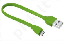Flat Micro-USB Cable 20cm - lime