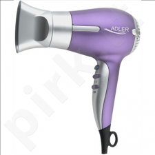 Adler AD 2218 Hair dryer, 1500W, 2 speed settings, 3 temperature settings,