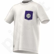 Marškinėliai adidas WSHD TEE II Los Angeles Lakers Junior M38417