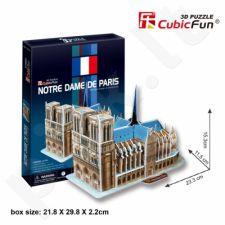 3D dėlionė: Paryžiaus Dievo Motinos katedra (II variantas)