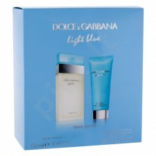 Dolce&Gabbana Light Blue, rinkinys tualetinis vanduo moterims, (EDT 100 ml + kūno kremas 100 ml)