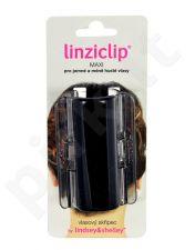 Linziclip Maxi Hair Clip, kosmetika moterims, 1vnt, (Black Translucent)