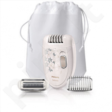 PHILIPS HP6423/00 Satinelle  Epilator, 2 speed, Legs & body with shaving head, Deep White with Pink Rose graphics